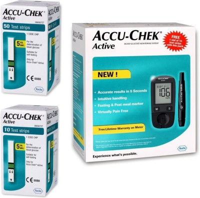 ACCU-CHEK Active Glucose Monitor with 50 Strips Glucometer