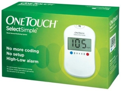 Johnson & Johnson One Touch Select Glucose Monitor with 35 Strips Glucometer