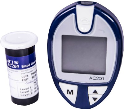 JSB AC200 with 25 Strips 25 Lancets Glucometer