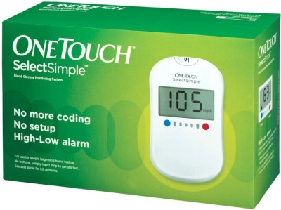 Johnson & Johnson One Touch Select Simple Glucose Monitor With 100 Strips Glucometer
