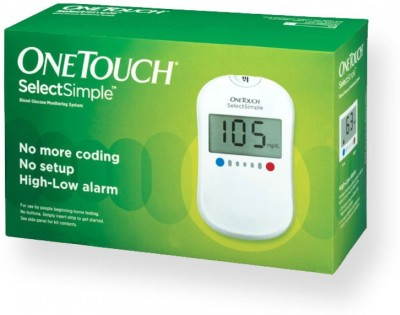 Johnson & Johnson One Touch Select Simple Glucose Monitor With 75 Strips Glucometer