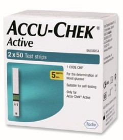 Accu-Chek 100 (50X2) Test Strips For Active Glucometer