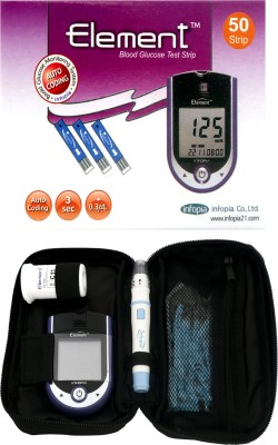 Infopia Element Blood Glucose Monitoring System with Infopia 50 Test Strips( Glucometer