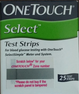Johnson & Johnson One Touch-Select Simple 25's Test Strips Glucometer