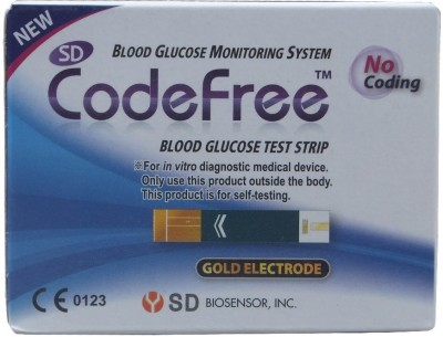 SD Code Free Glucometer Strips 100Tests Glucometer