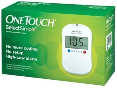 Johnson & Johnson One Touch Select Glucose Monitor with 50 Strips Glucometer
