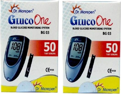 Dr. Morepen Gluco One Monitoring System 50 Test Strips (Pack of 2) Glucometer