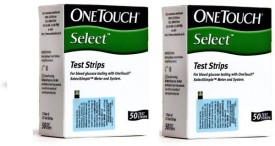 Johnson & Johnson One Touch-Select Simple 100 Test Strips Glucometer