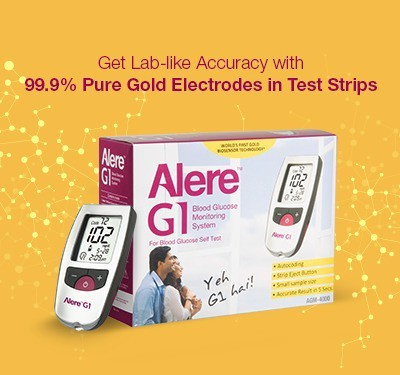 Alere G1 with 25 Strips Glucometer(Silver)
