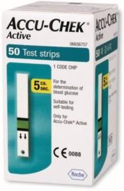 ACCU- CHEK Active 50 Test Strips Expiry(1-2017) Glucometer