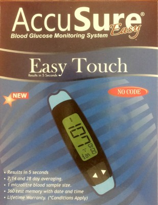 AccuSure Easy Touch Glucometer(Blue)