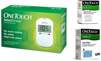 Johnson & Johnson One Touch Select Glucose Monitor with 60 Strips Glucometer