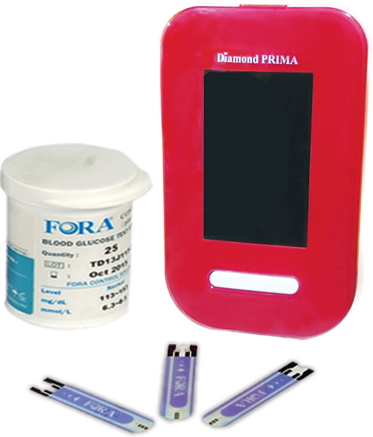 Truworth Diamond Prima Swiss Red with 25 Strips Glucometer(Red)