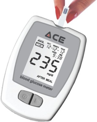 Ace Glucometer Kit with 10 Blood Glucose Test Strips Glucometer