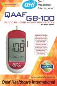 Qaaf GB-100 Blood Glucose Monitoring System Glucometer(Red)