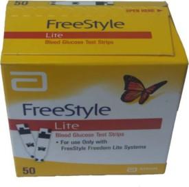 Abott Freestyle Lite Blood Glucose Test Strips 50 T Glucometer