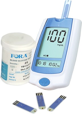 Truworth G30 With 25 Strips Glucometer(White)