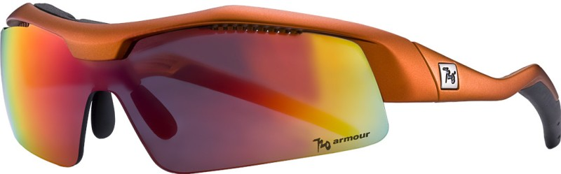 720 Armour New Matte Titanium Orange Track Sunglasses And Eyewear Cycling Goggles(Red)