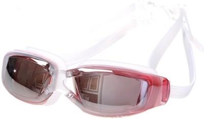 The SweatShop Unisex Swim Eyewear White/Pink Swimming Goggles