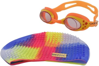 Dezire anti-fogg goggle and cap Swimming Goggles