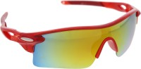 Vast 9181C7_RED_MIRROR Sports Sunglasses(Golden)