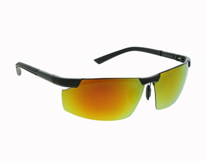 Vast MIRROR_SPORTS_BLACK_GOLD Sports Sunglasses(Golden)