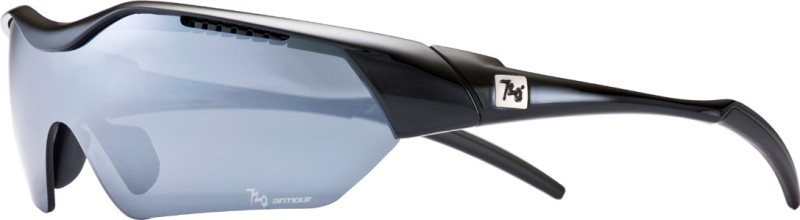 720 Armour Hitman Asian-Fit Glossy Black Eyewear And Sunglasses Cycling Goggles(Silver)
