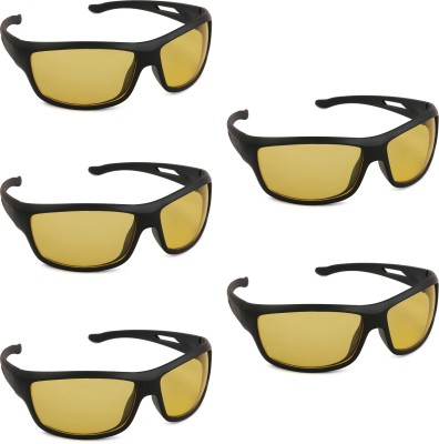 Tim Hawk Day and Night Vision Pack Of 5 Motorcycle Goggles