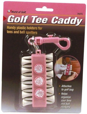 JEF WORLD OF GOLF Gifts and Gallery, Inc. Pink Tee Caddy Golf Tees