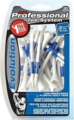 Pride Professional Tee System Evolution Tee Golf Tees(Pack of 30, White, Blue)