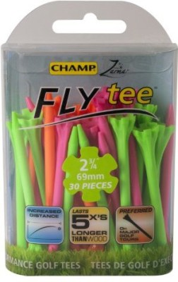 Champ Zarma FLYtee, Neon Mixed Golf Tees(Pack of 30, Multicolor)