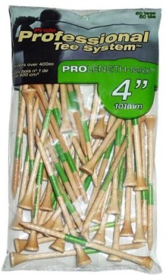 Pride Professional Tee System ProLength Max Tee Golf Tees(Pack of 50, White, Green)