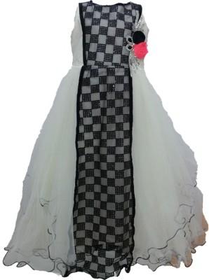 Pogo Girl's Gathered Grey Dress