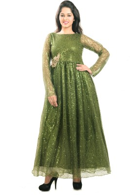 Aasia Couture Flared gown with can