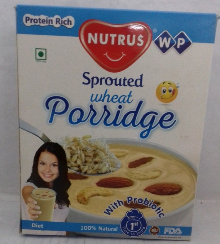 Nutrus Sprouted Porridge Wheat(450 g, Pack of 2)
