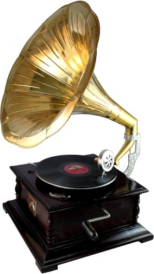 Interio Crafts Premium Wooden Gramophone(Yes)