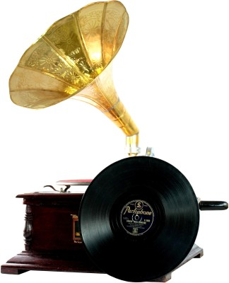 Interio Crafts Exclusive Wooden Gramophone(Yes)