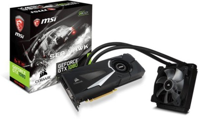 MSI NVIDIA GTX 1080 SEA HAWK X. 8 GB GDDR5X Graphics Card(Black)