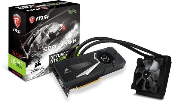 MSI NVIDIA GTX 1080 SEA HAWK X. 8 GB GDDR5X Graphics Card(Black)