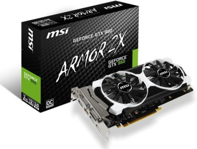 MSI NVIDIA GTX 950 2 GB GDDR5 Graphics Card(Black)