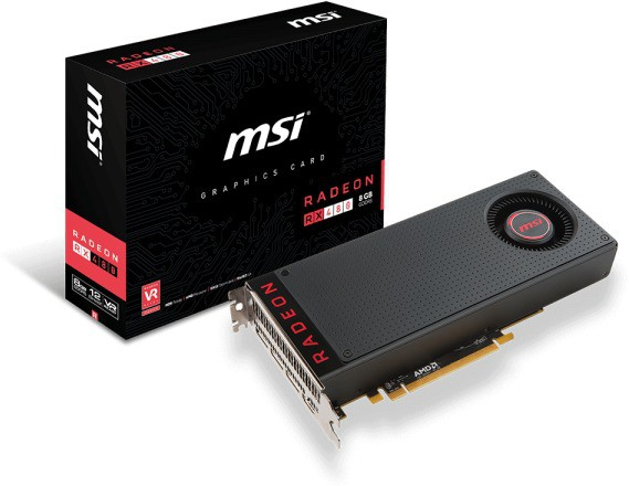 MSI AMD/ATI Radeon RX 480 8G 8 GB GDDR5 Graphics Card(Grey)