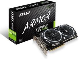 msi NVIDIA GEFORCE® GTX 1080 ARMOR 8G OC 8 GB GDDR5X Graphics Card(Black)