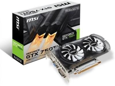 MSI NVIDIA Geforce GTX 750 ti OC v2 2 GB DDR5 Graphics Card(Grey ,silver white)