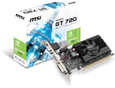 MSI NVIDIA GeForce GT 720 2 GB DDR3 Graphics Card