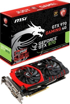 MSI NVIDIA Geforce GTX 970 Gaming 4 GB GDDR5 Graphics Card