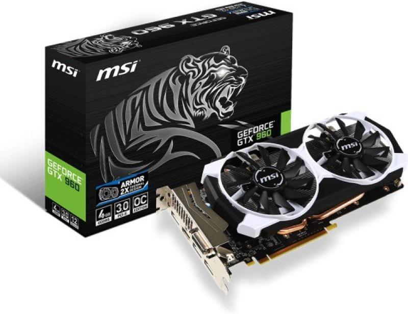MSI NVIDIA GTX 960 4 GB GDDR5 Graphics Card(Black)