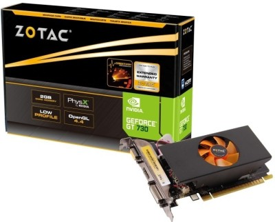 ZOTAC NVIDIA GT 730 2GB 2 GB DDR5 Graphics Card