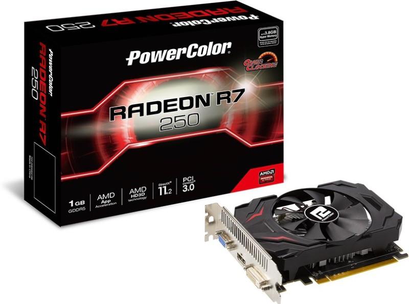 Powercolor AMD/ATI R7 250 1GB DDR5 1 GB DDR5 Graphics Card(Black)
