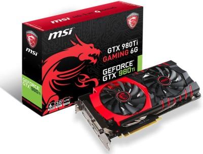 MSI NVIDIA Geforce GTX 980Ti Gaming 6g 6 GB GDDR5 Graphics Card