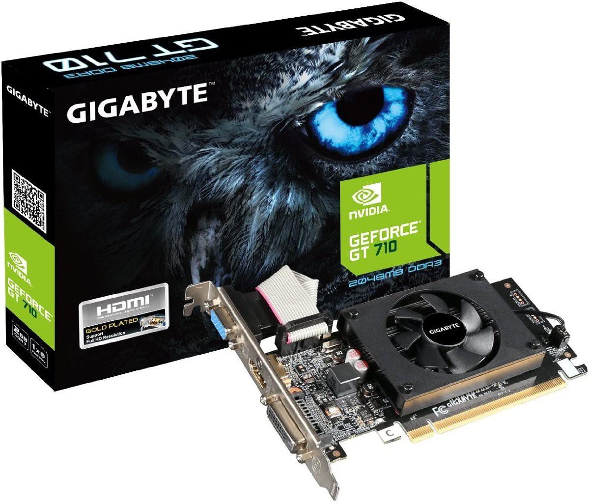 Gigabyte NVIDIA GeForce GT 710 2 GB DDR3 Graphics Card(Multicolor)